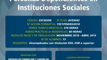 Curso Gratuito en Arévalo: Atención Sociosanitaria a Personas Dependientes en Instituciones Sociales